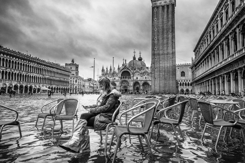 MONO - Flooding In St. Mark's Square by Mark McConnell (13 marks)