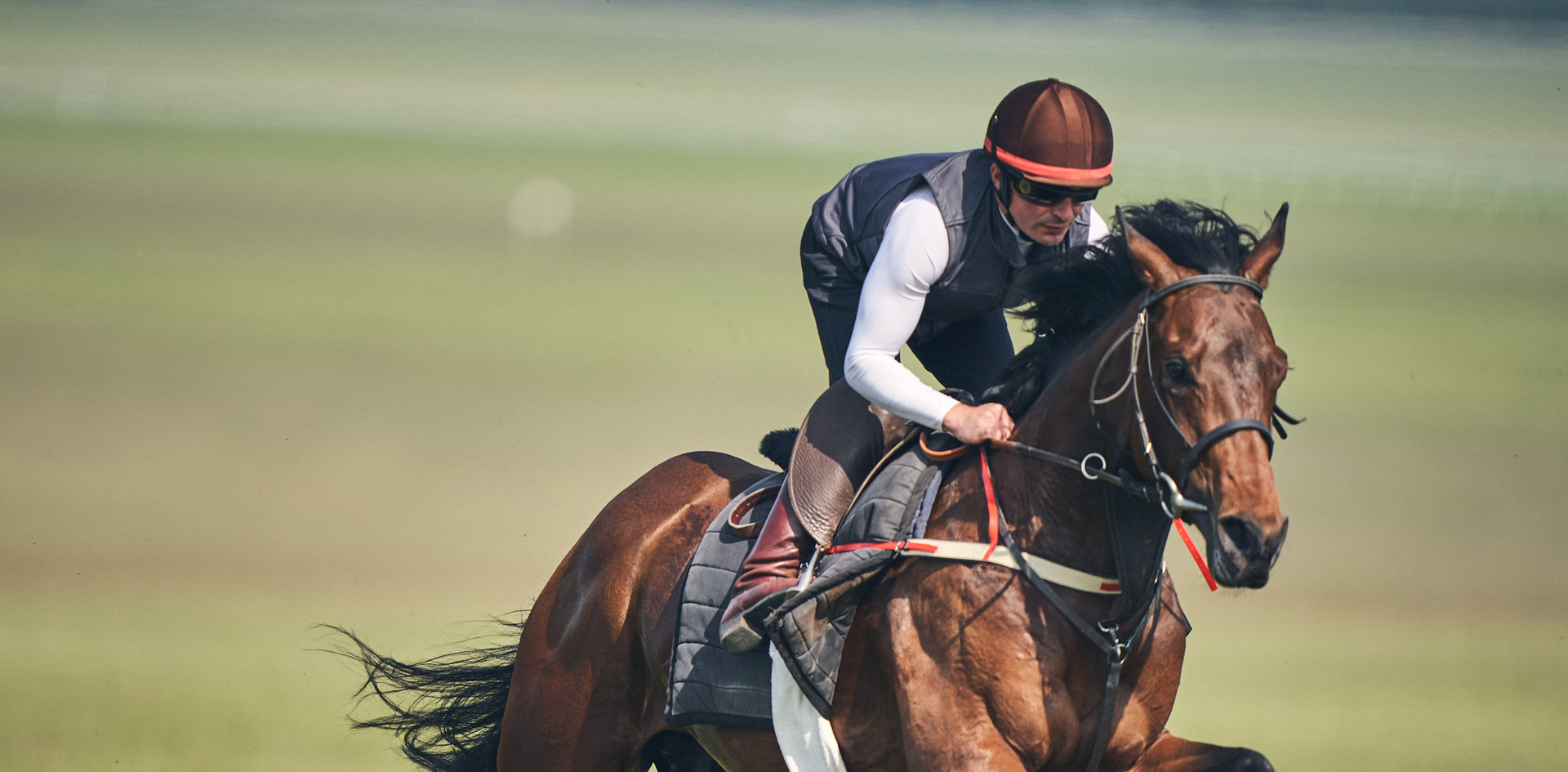 Eevilynn Drew galloping with Andrea Atz
