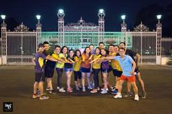 Huấn luyện nhóm tại Dinh Độc lập