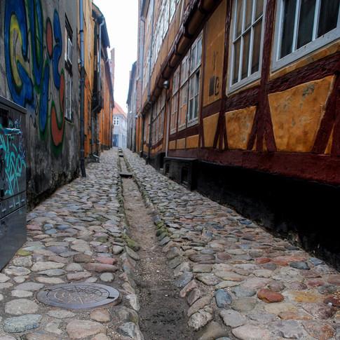 Ancient alley, Helsingør (Elsinore), Denmark.