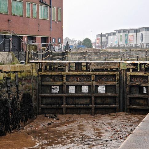 Lock gates, St Andrew's docks, Hull