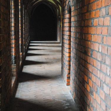 Cloister, Helsingør (Elsinore) Priory, Denmark.