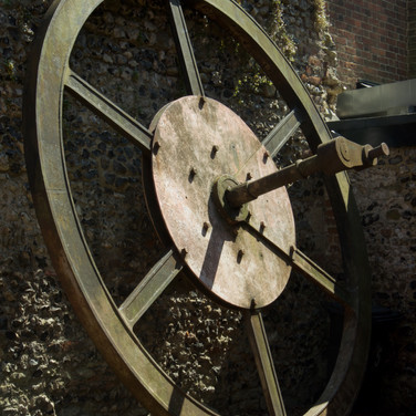 Victorian mill machinery wheel, Canterbury, kent