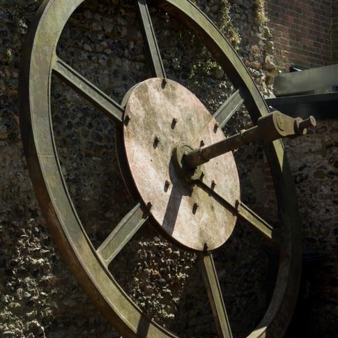 Victorian mill machinery wheel, Canterbury, kent