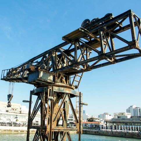 The lone crane, Tel Aviv harbour