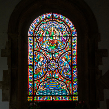 Stained glass window, Edlingham chirch