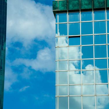 Clouds reflected, Tel Aviv