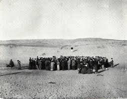 Avram Soskin's photograph of the 1906 meeting on the dunes