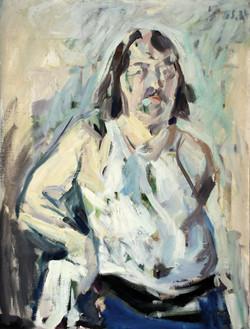 1974, Sebst, Öl auf Lw., 105 x 80 cm, 2.500,00