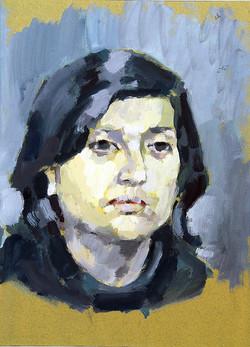 1965, Griechin, Acryl auf Papier, 47 x 35 cm, unverk.