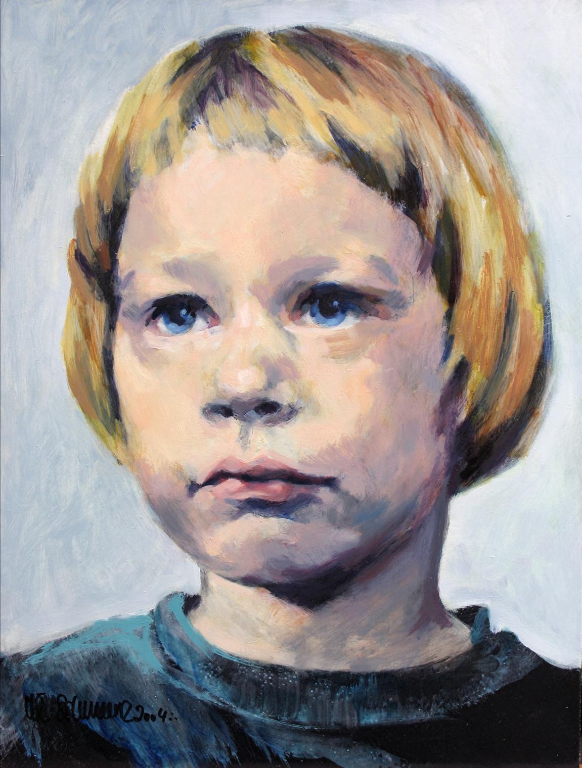 2004, Ingo, Mischtechnik auf Hartfaser, 40 x 30 cm, unverk.