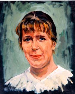 1999, Porträt Höhm., Öl auf Lw., 40 x 30 cm, Privatbes