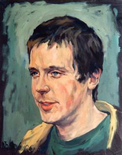 1999, Porträt Hohm. II, Öl auf Lw., 40 x 30 cm, Privatbes.
