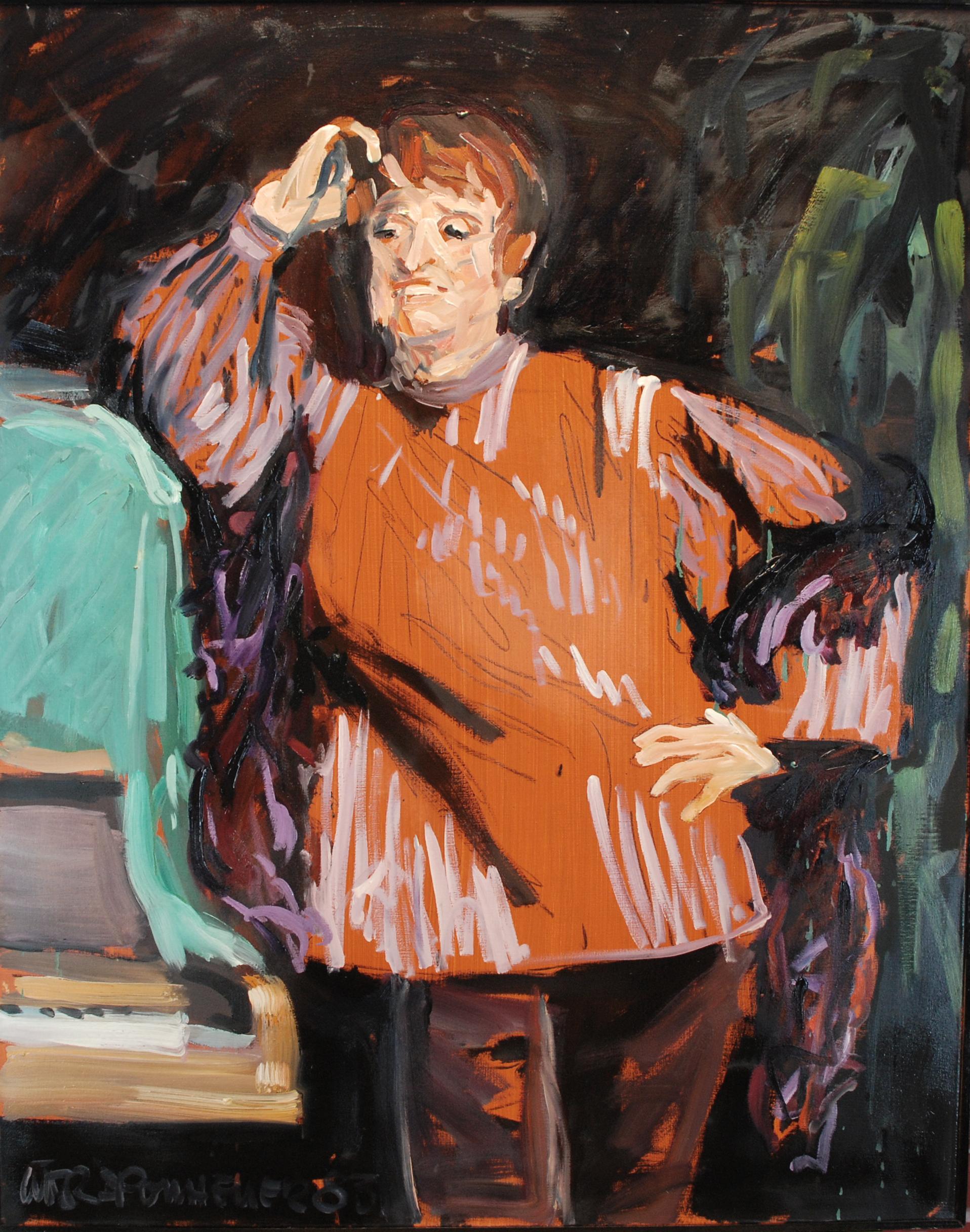 1983, Die Lebaan, Öl auf Lw., 120 x 100 cm, 2.500,00
