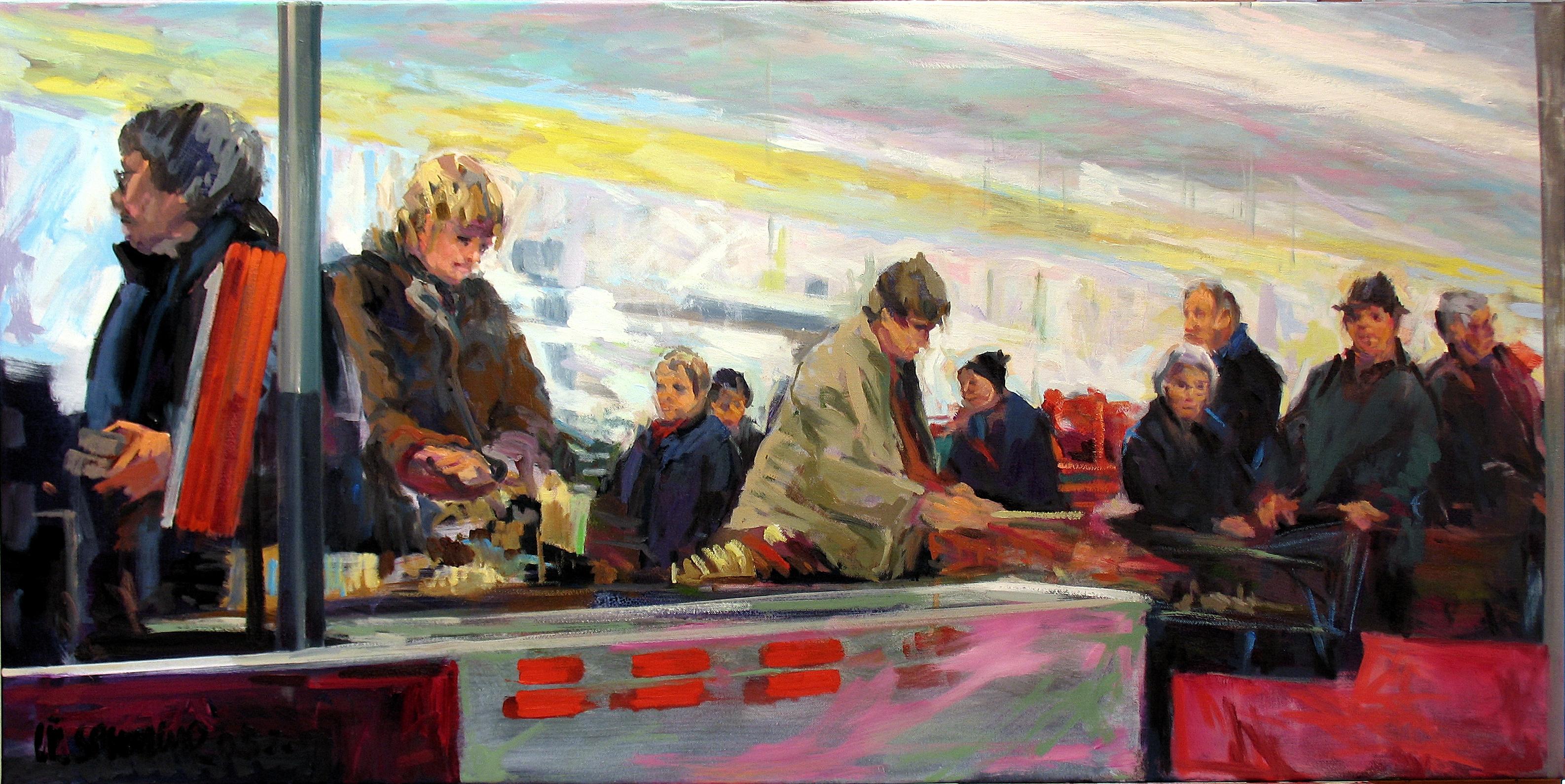 2005,_Schlange_an_der_Kasse,_Öl_auf_Lw.,_60_x_120_cm,_Privatbes.