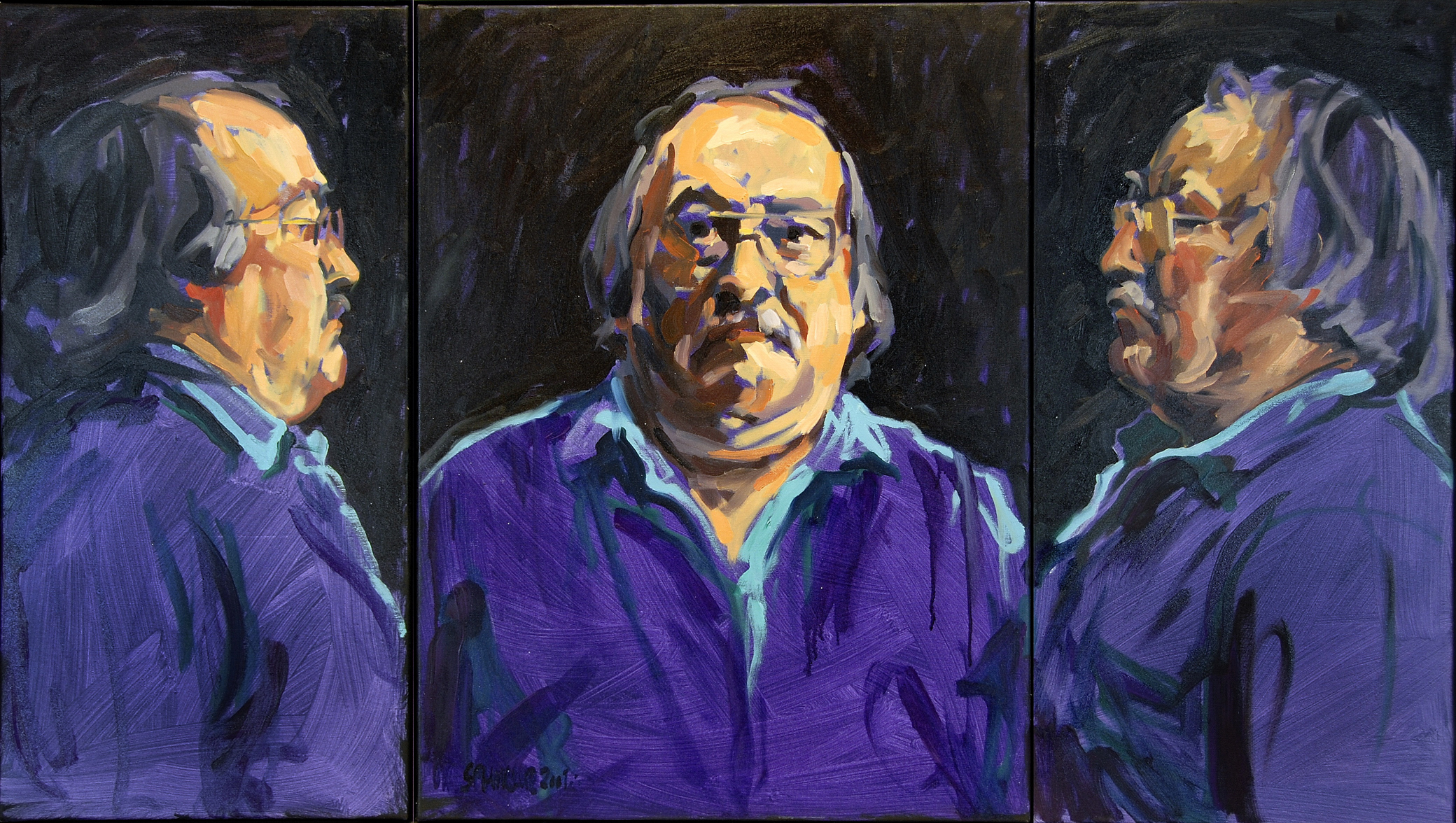 1999,_Selbst,_Triptychon,_Öl_auf_Leinwand,_180_·_100_cm