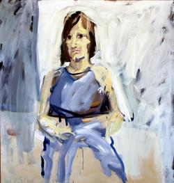 1981, Regine, Öl auf Lw., 125 x 115cm, 2.800,00