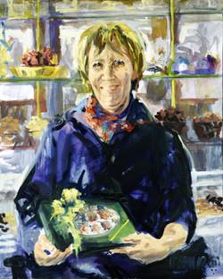2001, Regine, Öl auf Lw., 100 x 80 cm, 2.200,00