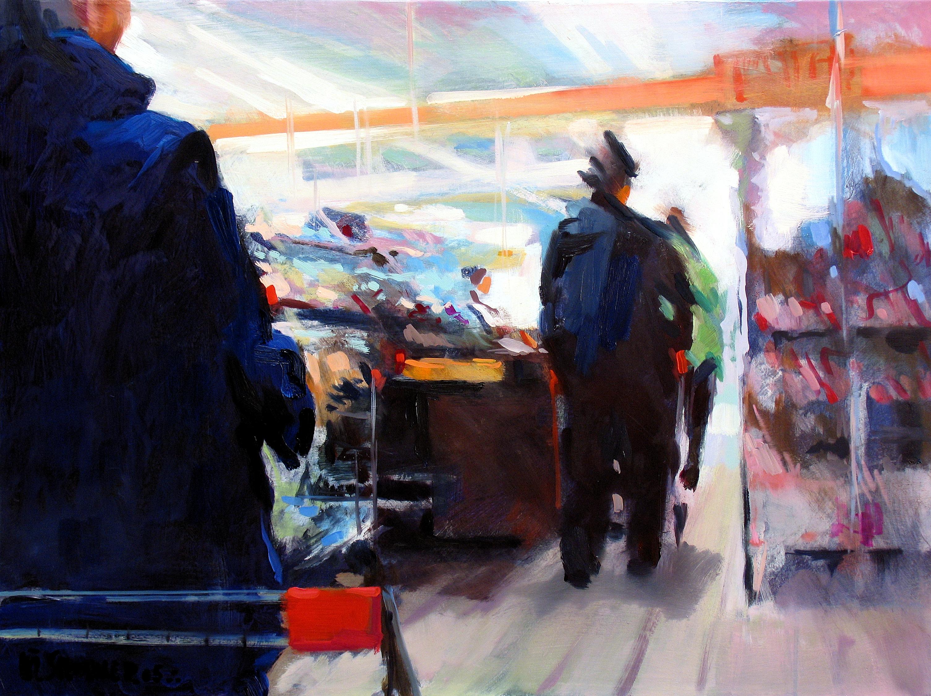2005,_Mann_mit_Hut_an_der_Kasse,_Öl_auf_Lw.,_60_x_80_cm,_1.900,00
