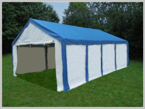 4x8 meters PVC Pro Modular Blue (without windows)