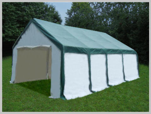 4x8 meters PVC Pro Modular Green (without windows)