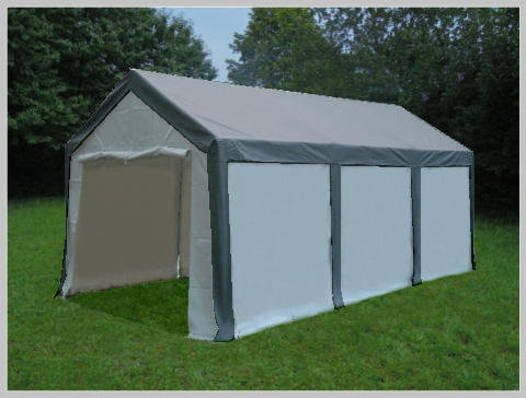 4x6 meters PVC Pro Modular Grey (without windows)
