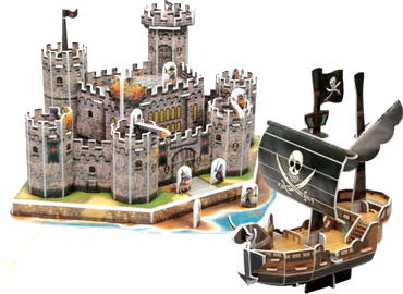 Medieval Castle and Pirate Ship