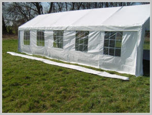 Pavilion rain gutter - 10 meters PE (Adjacent)