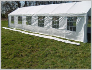 Pavilion rain gutter - 12 meters PE (Adjacent)