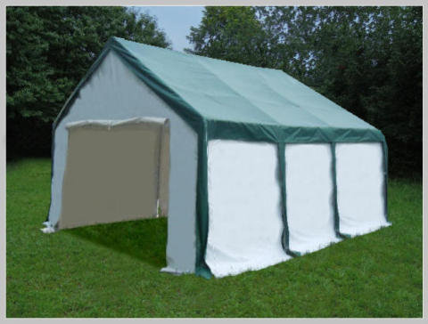 3x6 meters PVC Pro Modular Green (without windows)