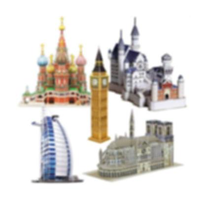 Famous Landmarks, 3D puzzles