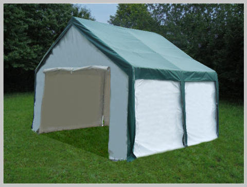 4x4 meters PVC Pro Modular Green (without windows)