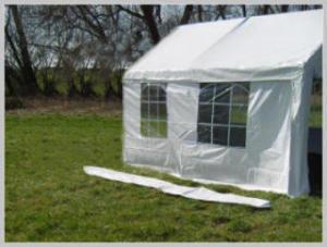 Pavilion rain gutter - 4 meters PE (Adjacent)