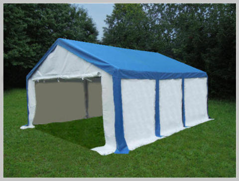 4x6 meters PVC Pro Modular Blue (without windows)