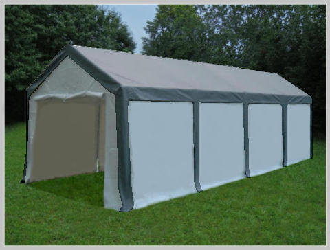4x8 meters PVC Pro Modular Grey (without windows)