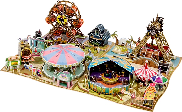 Theme Park and Rides (4 Puzzles)