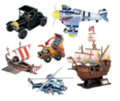 Transport, 3D Puzzles, puzzles