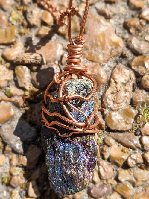 Peacock Ore Pendant