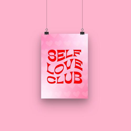 Self love club - A5 print