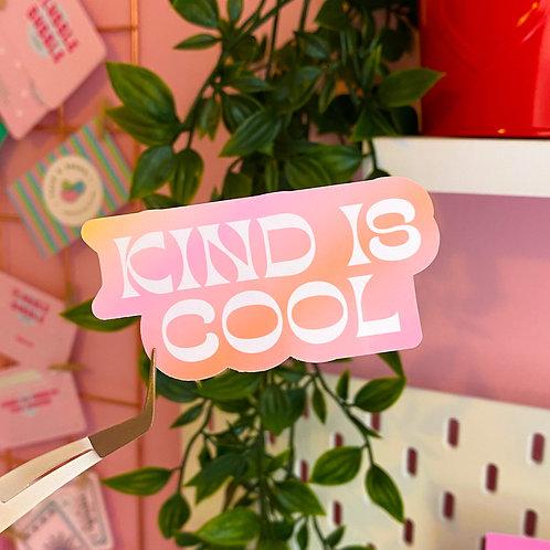 Kind is cool - Laptop sticker