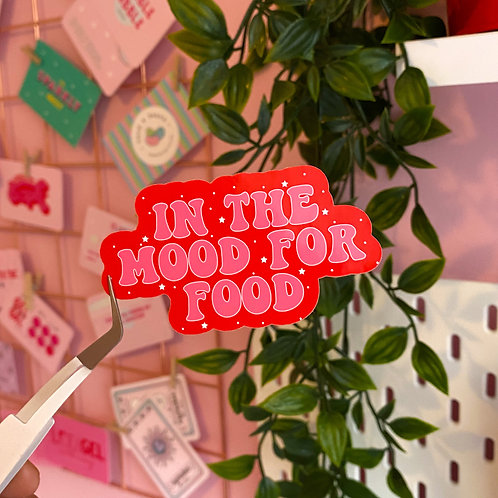 In the mood for food - Laptop sticker