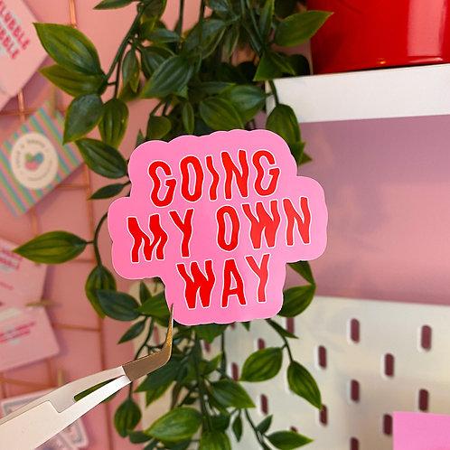 Going my own way - Laptop sticker
