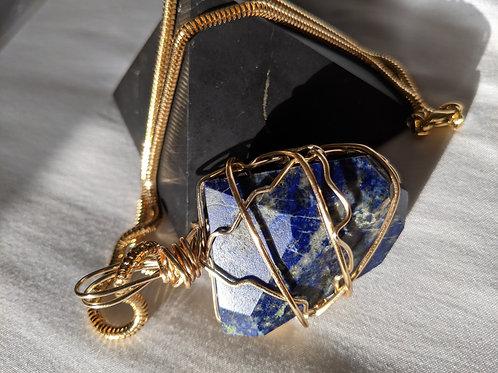 Lapis Lazuli Pendant- Gold Edition