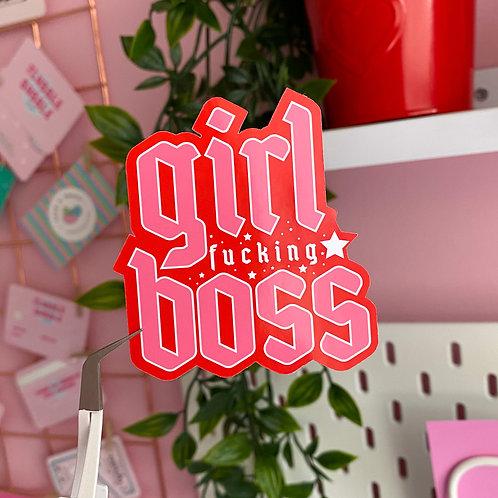 Girl boss - Laptop sticker