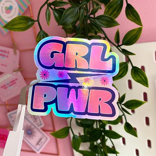 GRL PWR - Holo sticker