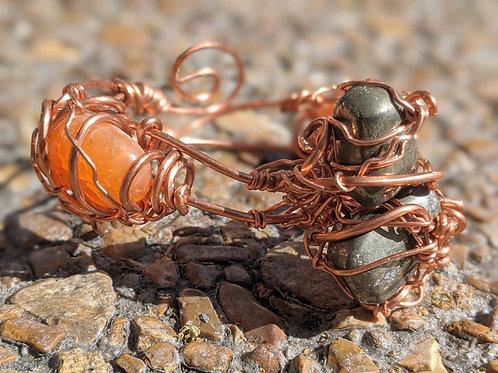 Pyrite x Carnelian Bracelet