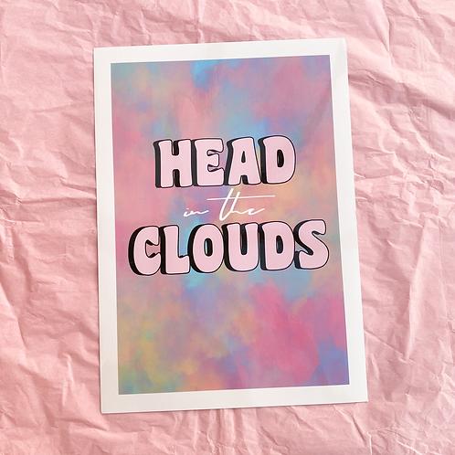 HEAD IN THE CLOUDS - A4 PRINT