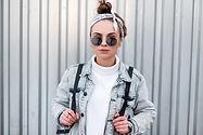 Woman with Headband and Sunglasses