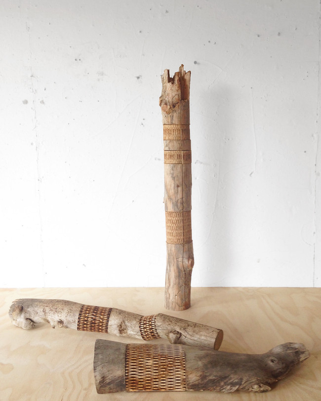 Exquisite Extrusion Dimensions variable Found wood with laser-cut birch wood 2017