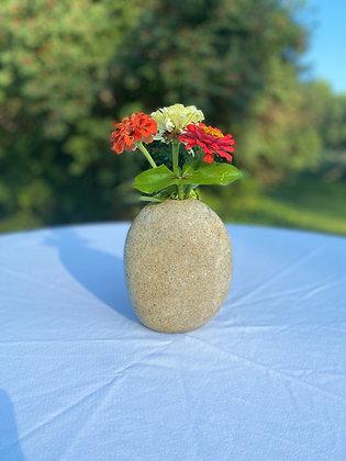White Granite Bouquet Vase